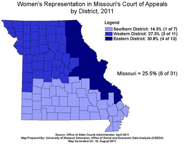 Womens Indicators - Missouri us congressional district map